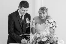 Фотосъемка свадьбы Александра и Ольги в Могилеве - Да! - в ЗАГС-е