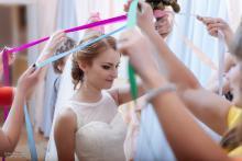 Фотосъемка свадьбы Михаила и Юлии в Круглом - букет невесты - церемония
